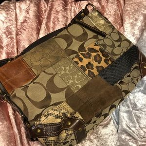 Coach Carly patchwork